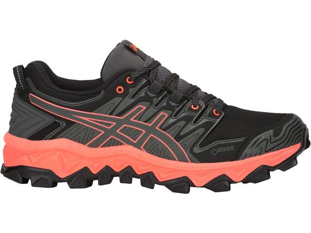 asics Gel-FujiTrabuco 7 G-TX Shoes Dam dark grey/flash coral